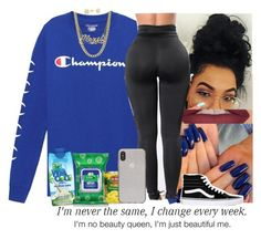"""""""CHAMPION X QUEEN"""" by princessaesthetic ❤ liked on Polyvore featuring PacSun, Vans, Vita Coco, Forever 21, YES and Kate Spade"""