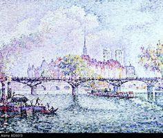 """Signac, Paul, (1863 - 1935), painting, """"Paris, Ile de la Cite"""", 1912, oil on canvas, Museum Folkwang, Essen"""