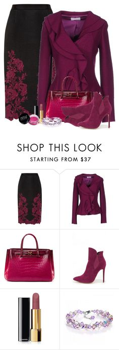 """""""Ted Baker"""" by flowerchild805 ❤ liked on Polyvore featuring Ted Baker, Clips More, VBH, Liliana, Chanel, women's clothing, women, female, woman and misses"""