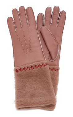 Shearling is often used to make cold-weather gear and Bottega Veneta's gloves prove just how warm the natural material can be. Cold Weather Gear, Bottega Veneta, Cool Designs, Gloves, Women Wear, Collection, Products, Fashion, Moda