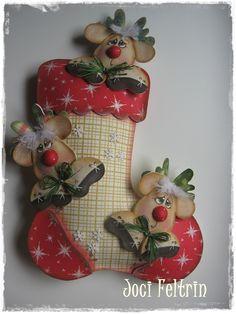 fun foam Christmas stocking