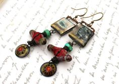Playful Elements Artisan Earrings//Contents by ContentsJewelry