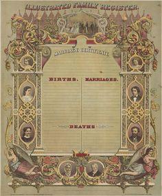 Vintage Family tree record