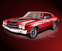1970 Chevelle art print postert by Danny Whitfield