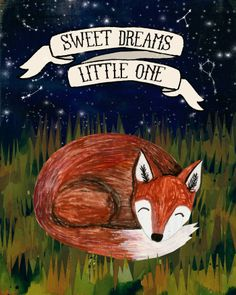 Sweet Dreams Fox - 8x10 Matted Print