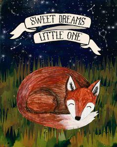 Sweet Dreams Fox - 8x10 Matted Print