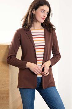 Tania Jersey Blazer Warm Autumn, Blazer Fashion, Autumn Fashion, Autumn Colours, Work Outfits, Jackets, Color, Blue, Down Jackets