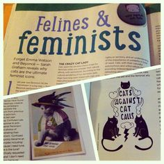 Your Cat magazine, March 2015 - Felines & feminists by Sarah Graham