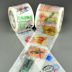Nostalgic charm with these stamp tapes.postage stamp - 45mmx10mink stamp - 35mmx10mMade in Japan