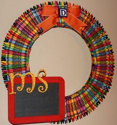 crayon wreathe
