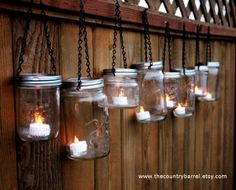 Mason jar candle holders by karina