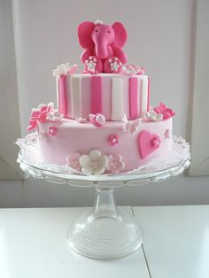 Cake for twin Girls Zoe by CAKE Amsterdam - Cakes by ZOBOT, via Flickr