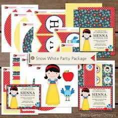 Snow White Party Printables and Invitation Princess Birthday Invitations e5b338717451