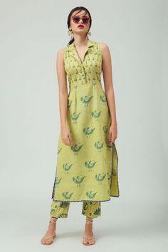 Printed Kurti Designs, Salwar Designs, Kurta Designs Women, Kurti Designs Party Wear, Cotton Kurtis Designs, Long Kurta Designs, Dress Indian Style, Indian Fashion Dresses, Indian Designer Outfits