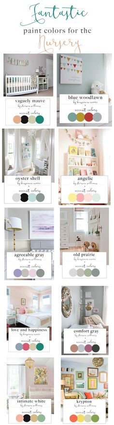 Beautiful Paint Colors for the Nursery