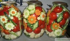 Ornamental Russian Style Pickled Vegetables Pickling is the process of preserving or expanding the lifespan of food by either. Vegetable Decoration, Boiled Dinner, Canning Pickles, Food Garnishes, Fermented Foods, Canning Recipes, Dose, Edible Art, Food Art
