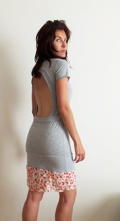 Tella open back Dress with belt Spicy Toast grey by SpicyToast, $55.00