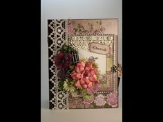PART 3 TUTORIAL HEARTFELT CREATIONS RAINDROPS ON ROSES MINI ALBUM - DESIGNS BY SHELLIE - YouTube