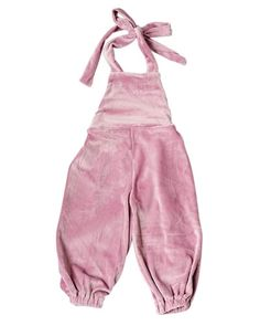 921f5c4f099 Velour Halter Jumpsuit Romper - Mauve. Baby Girl ...