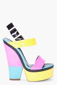 Guiseppe color block sandal