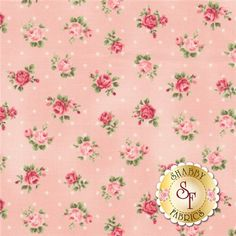 """Rose Collection RU2220-17B by Quilt Gate Fabrics: Rose Collection is by Quilt Gate Fabrics. This fabric features roses tossed on a pink background with dots.Width: 43""""/44""""Material: 100% CottonSwatch Size: 6"""" x 6"""" Expected Arrival Date Is February 2015"""