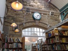 Barter Books, Alnwick (via suethomas)  »One of the largest second-hand book shops in Britain.. in a disused Victorian railway station..