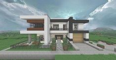 22 new of minecraft modern house blueprints pictures Minecraft Mods, Minecraft Houses For Girls, Minecraft House Tutorials, Minecraft Houses Survival, Minecraft House Designs, Minecraft Modern Home, Minecraft Modern House Blueprints, Simple Floor Plans, House Floor Plans
