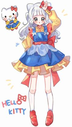 Loli Kawaii, Kawaii Chibi, Kawaii Art, Kawaii Anime, Cute Art Styles, Cartoon Art Styles, Art Inspiration Drawing, Character Design Inspiration, Pelo Anime
