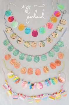 6 ways to make easy egg garland for kids