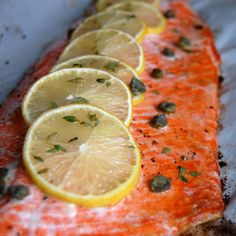 Simple Baked Salmon with Lemon  Thyme- the best way to cook salmon! Easy and tasty.