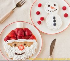 Super Cute Santa Pancakes!