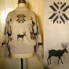 This  BEAUTY             deer Knit Reindeer by ATELIERVINTAGESHOP, $38.00