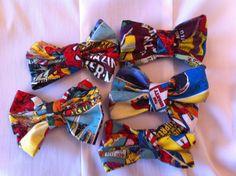 Marvel Superhero Fabric Hair Bows by StylishGeek