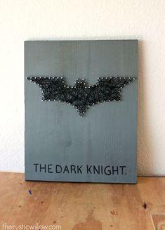 batman sign dark knight string art