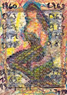 """Saatchi Art Artist Torben Dalhof; Collage, """"Bettie Page #5"""" #art"""