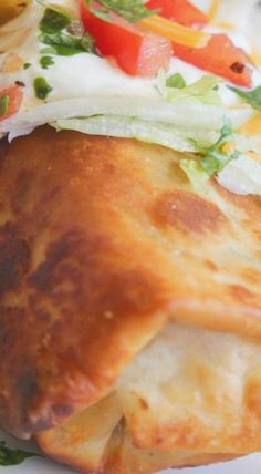 This very well might have been the first time I have eaten a chimichanga. I remember my Mom making them when I was younger, but I don't . Leftover Shredded Pork Recipe, Shredded Pork Recipes, Shredded Pork Chimichanga Recipe, Mexican Dishes, Mexican Food Recipes, Yummy Recipes, Pork Burritos, Chewy Sugar Cookie Recipe, Pork Salad