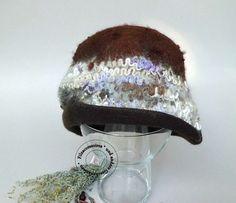Hüte - Filzhut Cloche handgefilzt Merino Alpaka - ein Designerstück von…