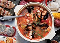 Portuguese seafood stew  ...all these fish stew are beginning to sound the same to me..
