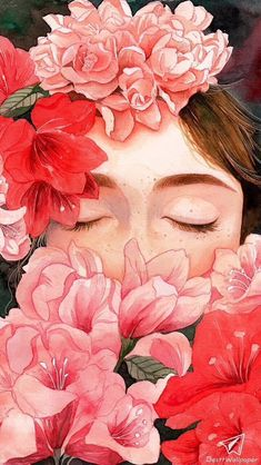 40 Ideas For Painting Watercolor Face Watercolor Face, Watercolor Portraits, Posca Art, Drawing Wallpaper, Girls With Flowers, Art And Illustration, Portrait Illustration, Anime Art Girl, Aesthetic Art