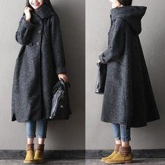 Women winter long woolen coatPretty much my ideal coat