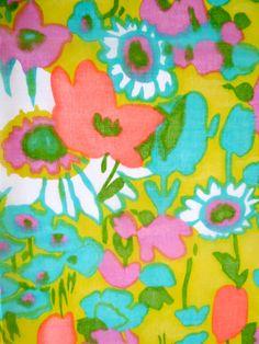 Mod •~• vintage floral fabric