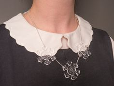 Geometric, snowflake inspired, laser cut necklace. LCM