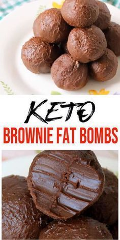Low carb 5 ingredient chocolate brownie fat bombs everyone loves… Keto Fat Bombs! Low carb 5 ingredient chocolate brownie fat bombs everyone loves. Mix up a few ingredients for this fudgy NO BAKE keto recipe. Desserts Keto, Keto Dessert Easy, Keto Snacks, Easy Desserts, Dessert Recipes, Recipes Dinner, Stevia Desserts, Healthy Low Carb Snacks, Low Carb Sweets