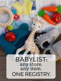 You can add anything to your baby registry with BabyList. Literally anything - even Etsy items, baby sitting, home cooked meals, or an aquarium/zoo membership! It's easy, beautiful & free. BabyList works just like Pinterest. Simple enough for the grandparents-to-be too.
