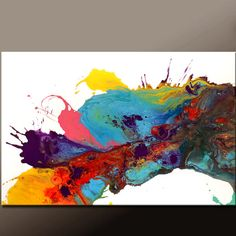 Abstract Art Painting Canvas 36x24 Original Modern Contemporary Paintings by Destiny Womack - dWo - Chasing Dreams on Etsy, $165.00