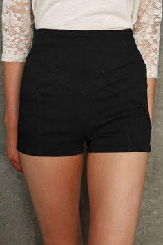 short taille haute taille haute et shorts. Black Bedroom Furniture Sets. Home Design Ideas