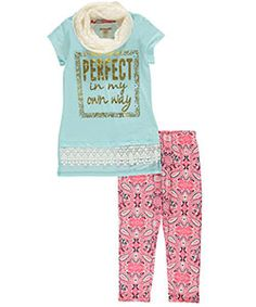 """One Step Up Big Girls' """"In My Own Way"""" 3-Piece Outfit (Sizes 7 – 16) - CookiesKids.com"""