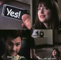 """Yes"" / fifty shades darker"