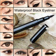 Wholesale 2PCS/Set Makeup Waterproof Black Liquid Eyeliner Pen Pencil for Eyes.Brand New Eye Liner. 100% TOP Quality US $4.98
