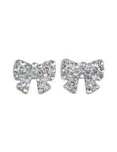 Sensitive Rhinestone Bow Stud Earrings | Earrings | Jewelry | Shop Justice